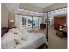 The master suite is sumptuous with a recently added turret room.