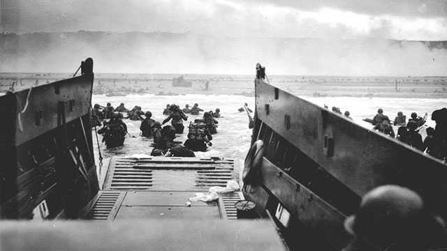 In an operation commonly known as D-Day, nearly 160,000 Allied troops landed on the beaches of Normandy in France on June 6, 1944, launching the invasion of German-occupied western Europe that helped turn the tide of World War II. Take a look back at this historic event 70 years later.