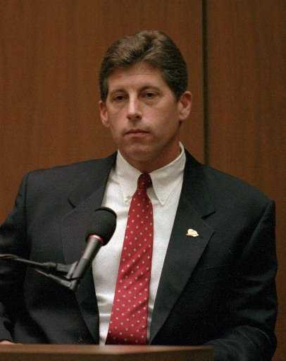 """The defense argued that LAPD detective Mark Fuhrman, who had been recorded using racist language, had planted evidence at the crime scene. The racially explosive tapes were offered by the defense to unmask the detective as """"L.A.'s worst nightmare,"""" a racist, lying policeman."""