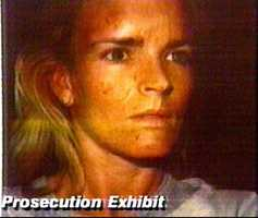 Jurors were shown this Polaroid photo, one of two found in Nicole Simpson's safe-deposit box, during testimony Feb. 6,1995. Older sister Denise Brown testified that she took the pictures a few days after a 1989 beating.