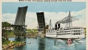 The original Bourne and Sagamore bridges, were replaced.