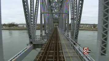 The train does operate over the railroad bridge into Buzzards Bay.