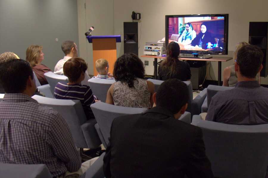 The scholars watch a video of the report that originally aired on NewsCenter 5 throughout the school year.