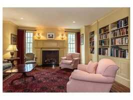 The home is surrounded by 85 acres of Mass Audubon Habitat conservation land.