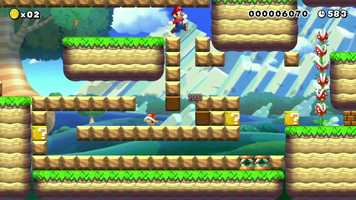 With Mario Maker, you'll be able to make your game in the original 8-bit style or in a new, more modern one.