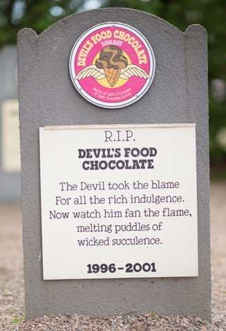 Devil's Food Cake1996 – 2001Swirls of Light Chocolate & Dark Chocolate Sorbet