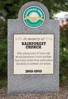 Rainforest Crunch1988- 1988Ice Cream with Rainforest Crunch – a cashew and Brazil nut butter crunch.