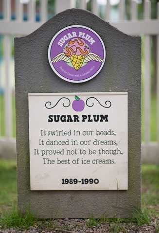 Sugar Plum1989 – 1990Plum Ice Cream with a Caramel Swirl.