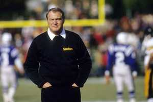 Chuck Noll was the Hall of Fame coach who won a record four Super Bowl titles with the Pittsburgh Steelers. Noll transformed the Steelers from a long-standing joke into one of the NFL's pre-eminent powers, becoming the only coach to win four Super Bowls. He was a demanding figure who did not make close friends with his players, yet was a successful and motivating leader. (January 5, 1932 – June 13, 2014)