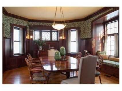 A formal dining room.