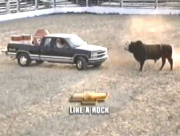 """Like a rock."" Chevy"