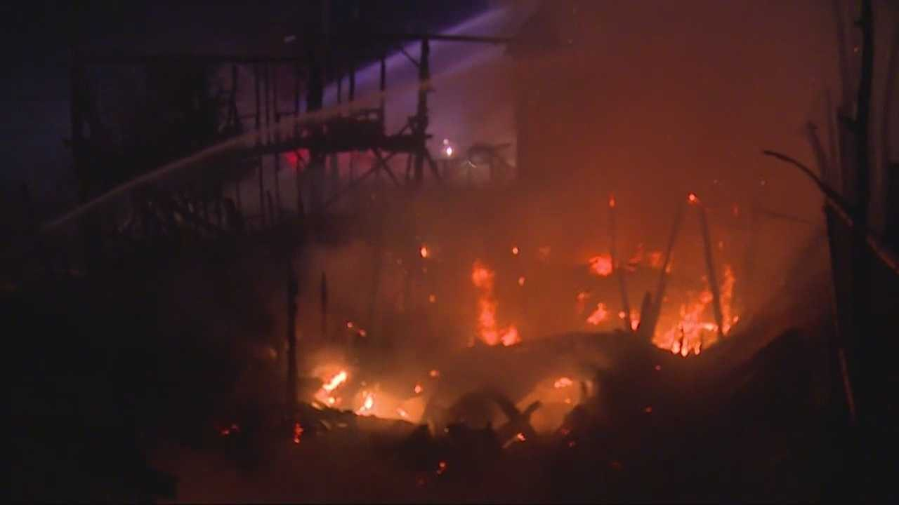 Intense fire forces evacuations