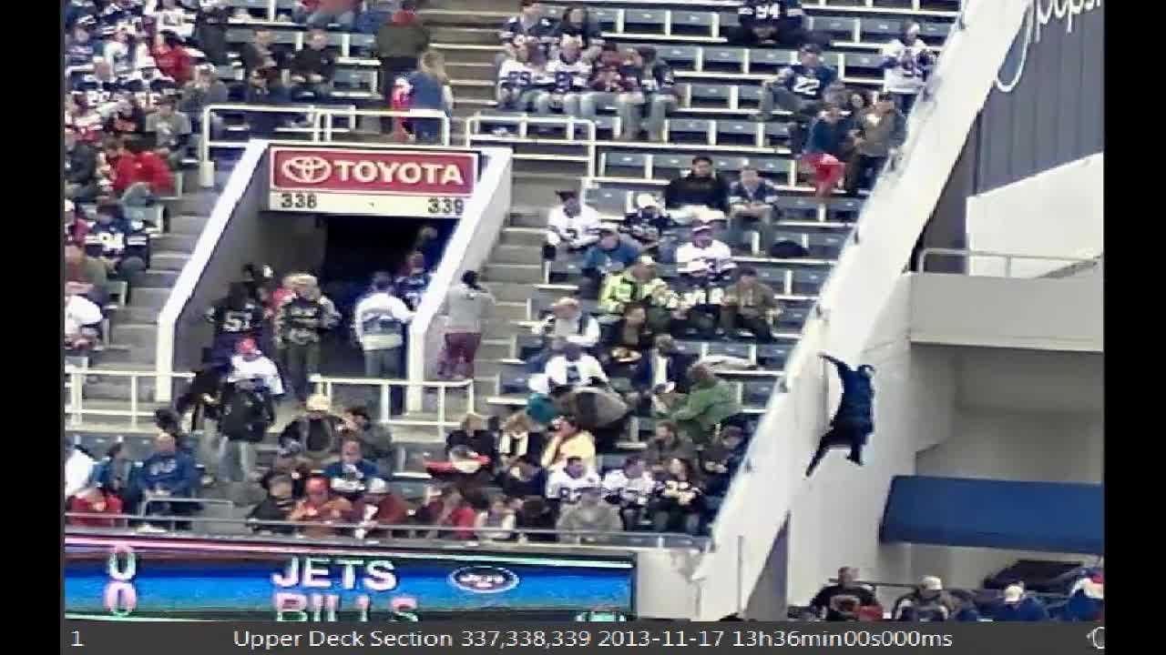 Bills fan falls from stadium deck 0618