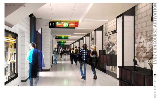 The level 4 concourse, half of the food and beverage stands, and Legends Club are expected to be complete for the beginning of the fall season.