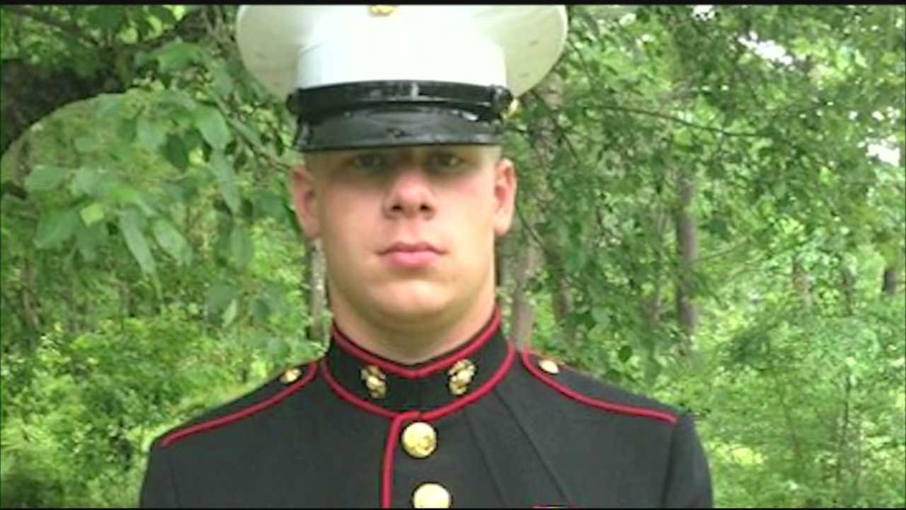 A friend remembered a Marine from New Hampshire killed by a roadside bomb in Afghanistan.