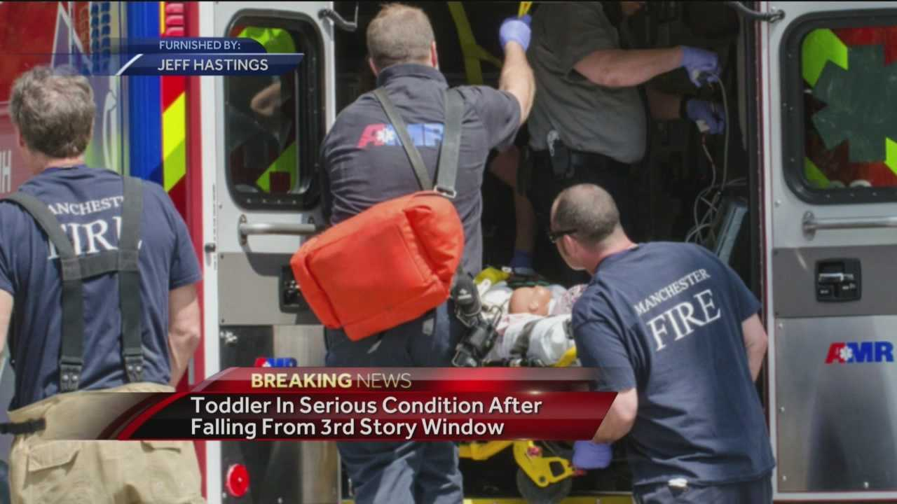Witnesses: Toddler was throwing items out window before fall