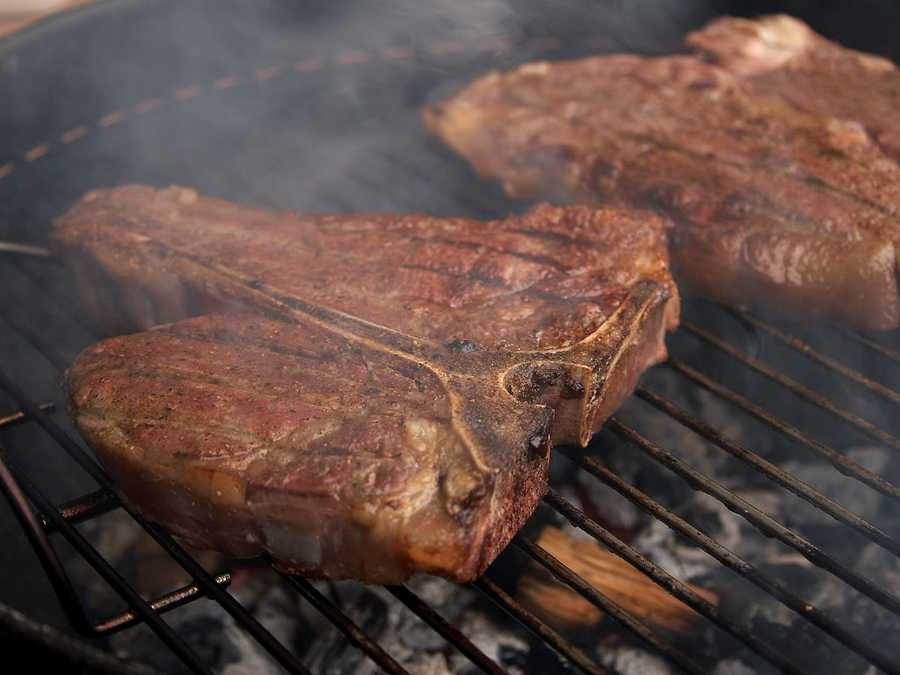 You should always use a thermometer when cooking meat to determine whether it has reached a safe internal temperature.
