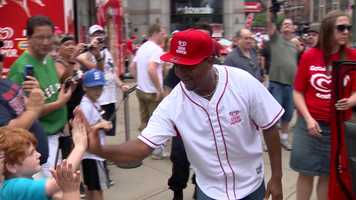 Former Boston Red Sox Cy Young Award-winning pitcher Pedro Martinez was a one of the most popular people in the city of Boston Thursday.