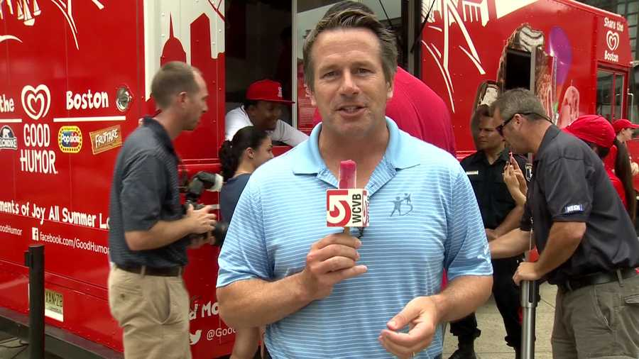 Even SportsCenter 5 anchor Bob Halloran enjoyed a treat... that he tried to hide.