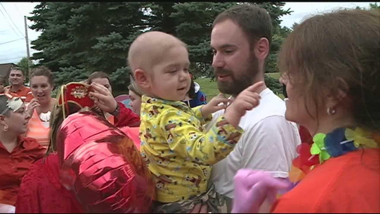 Flash Mob Surprises Boy Fighting Leukemia