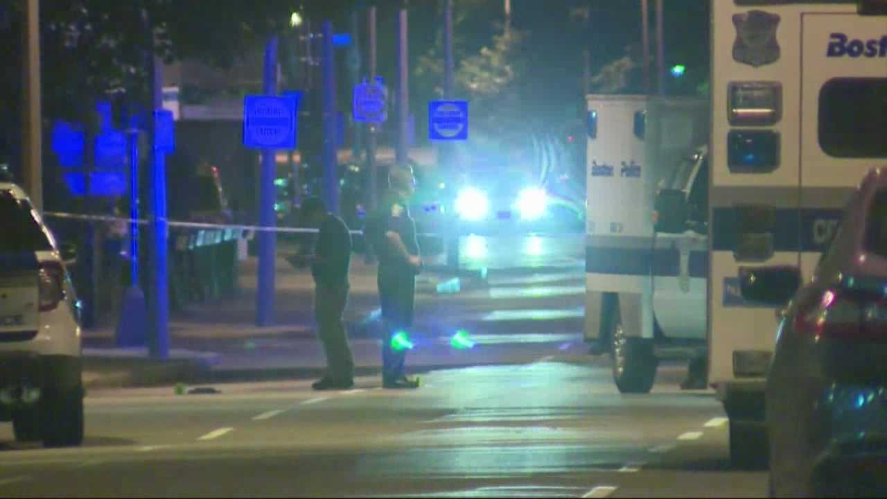 Boston Police are searching for suspects after a shooting in the South End.