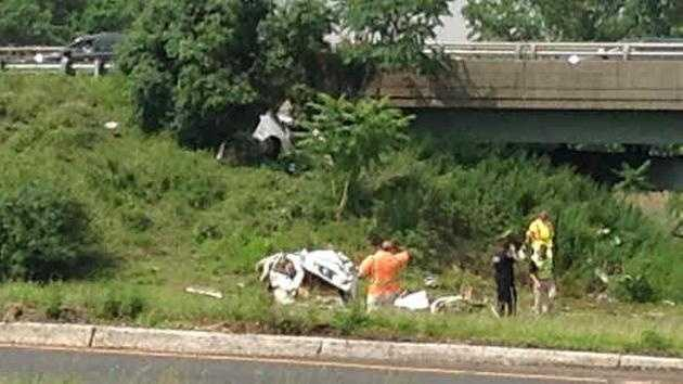 Mass. Plates on car in NJ crash 7.3.14