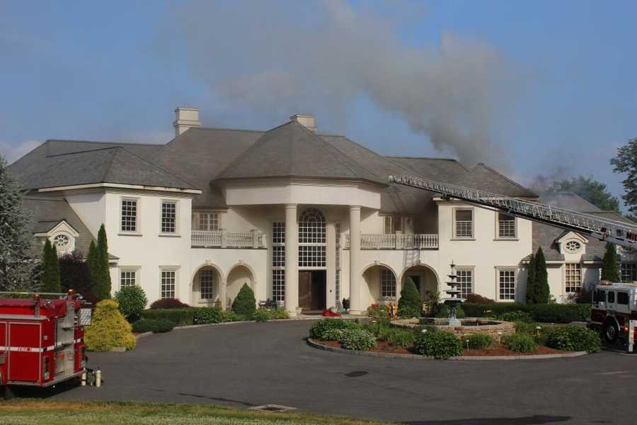 Fire destroyed a sprawling $3 million mansion in Connecticut Thursday evening, according to reports.