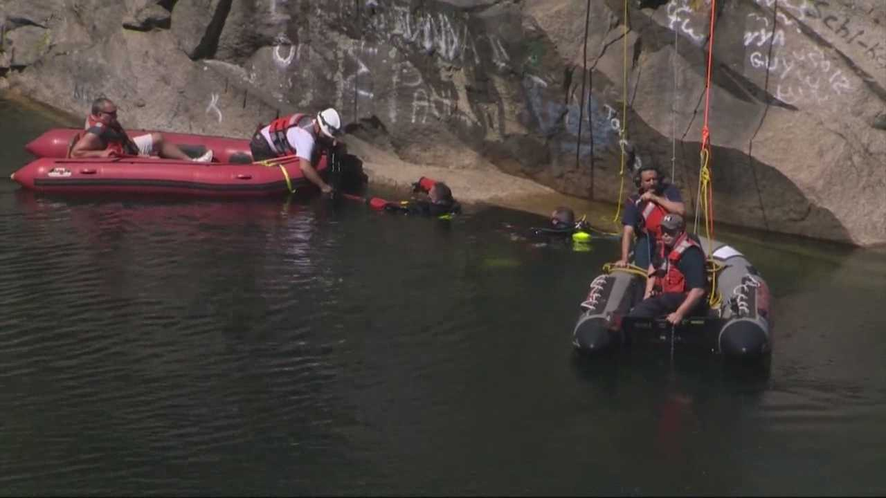 Recovery operation for teen at Milford quarry