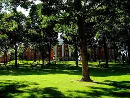 #10 Amherst College (Massachusetts). Tuition and fees totaled $44,610 for the 2012-13 school year, according the the U.S. Department of Education.