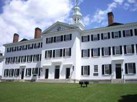#5 Darmouth College (New Hampshire). Tuition and fees totaled $45,042 for the 2012-13 school year, according the the U.S. Department of Education.