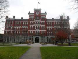 #38 Clark University (Massachusetts). Tuition and fees totaled $38,450 for the 2012-13 school year, according the the U.S. Department of Education.