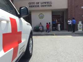 At the Lowell Senior Center, Red Cross volunteers are working with at least 55 displaced residents to meet their immediate emergency needs.