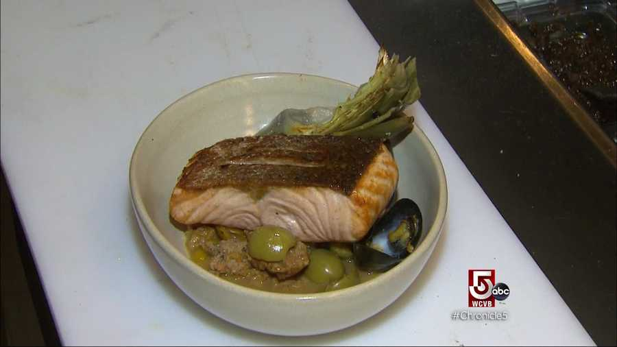 There's also Scottish salmon with olives and a crispy artichoke.