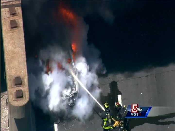 Firefighters were quickly able to knock down the flames.