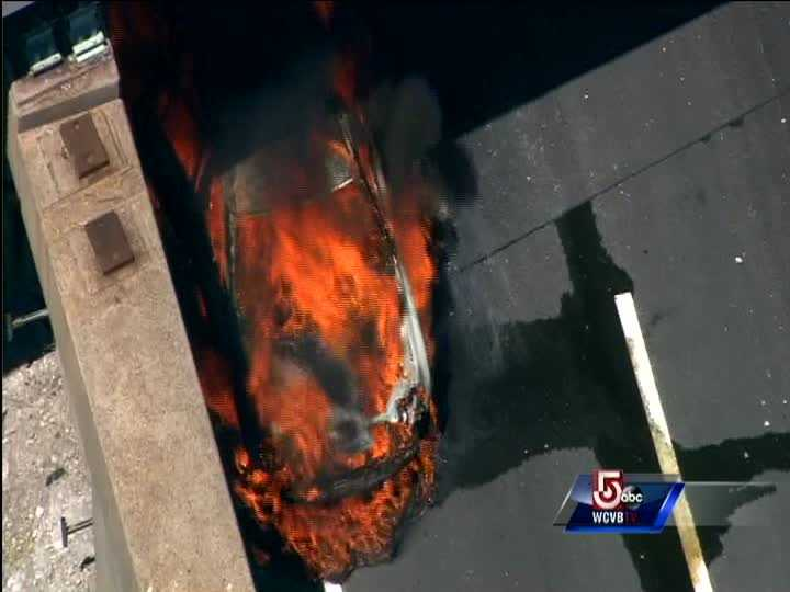 Sky 5 was over the scene just as firefighters arrived.
