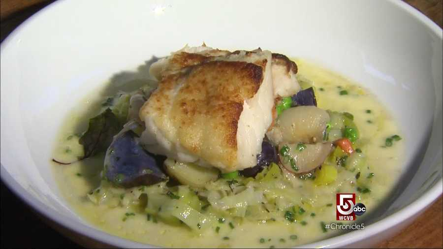 The crab-crusted cod is also a big hit
