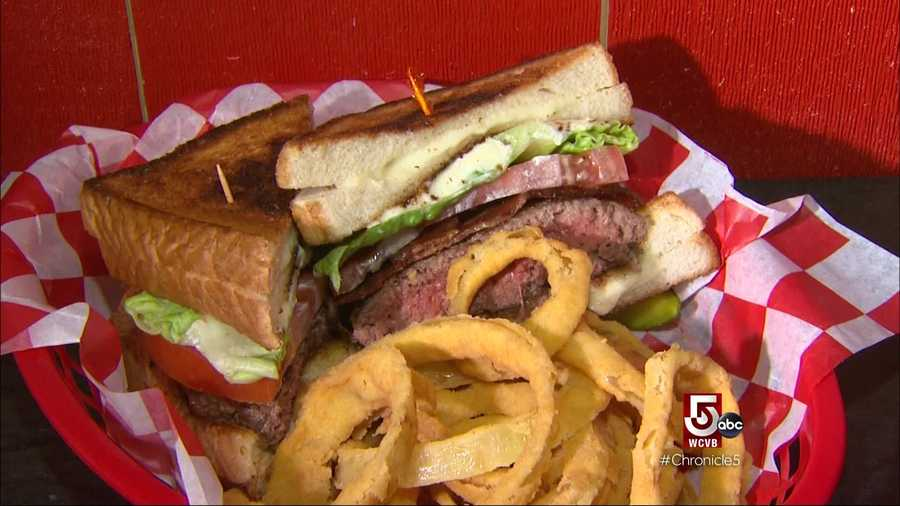 From their monster crunch burger topped with house-made potato chips and cherrywood smoked bacon...