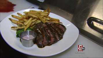 Or the marinated flat iron steak.