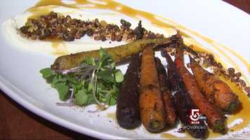 His grilled carrots with yogurt and pistachio elevate the orange vegetable to stardom!