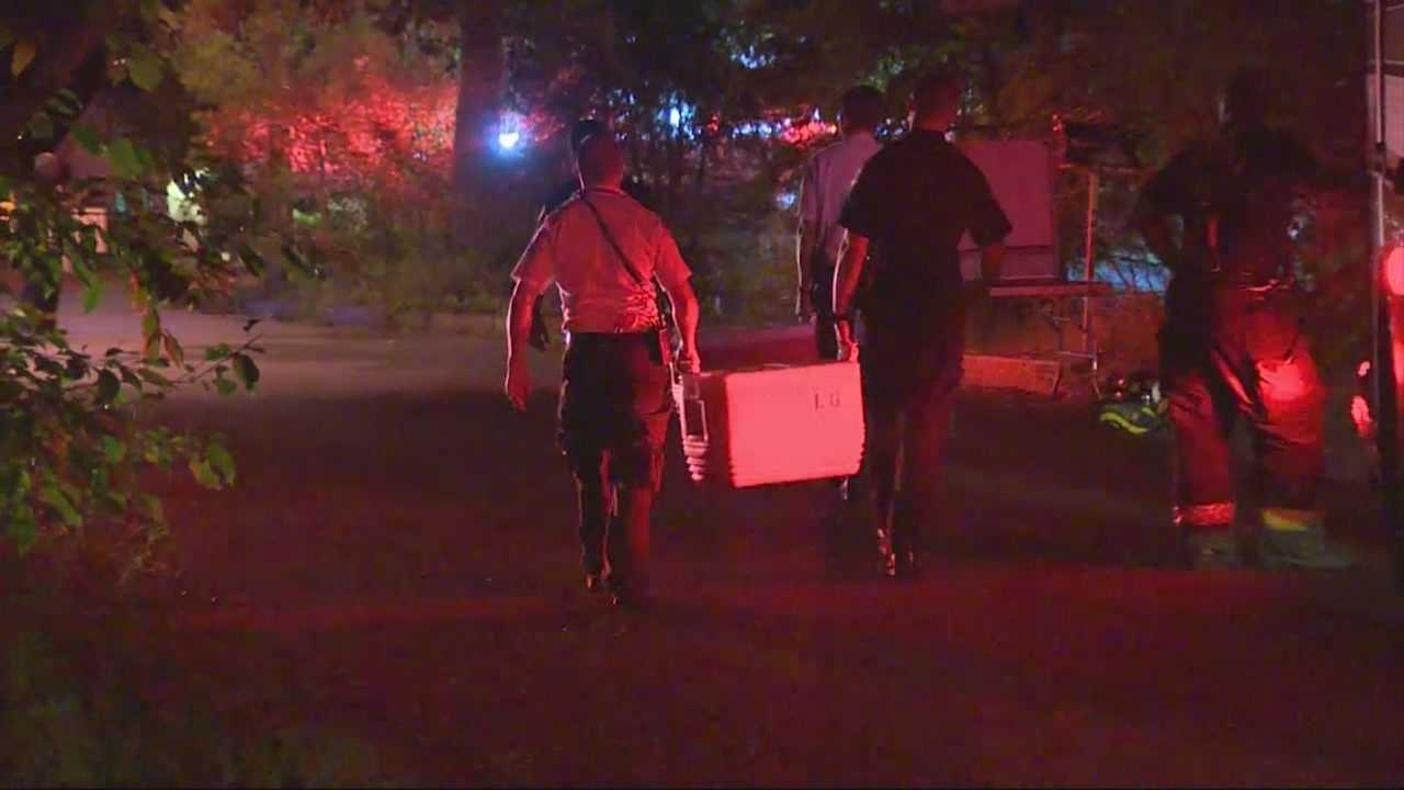4 firefighters were injured and a dozen homes in a Lawrence neighborhood were evacuated because of a hazardous materials situation.