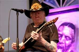 Texas blues legend Johnny Winter was known for his lightning-fast blues guitar riffs, his striking long white hair and his collaborations with the likes of Jimi Hendrix and childhood hero Muddy Waters. (February 23, 1944 – July 16, 2014)