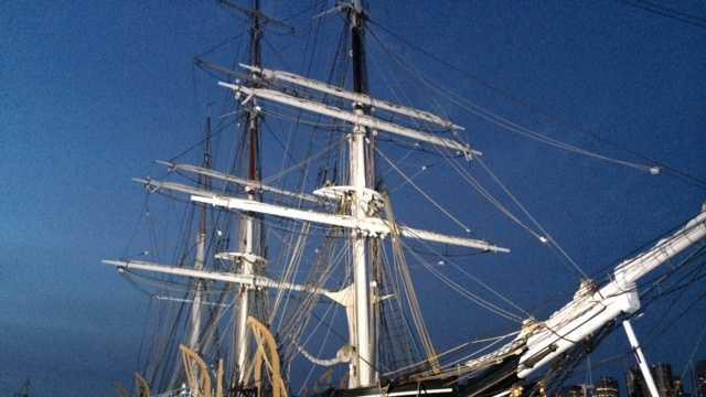 The Charles W. Morgan is docked in Charlestown.