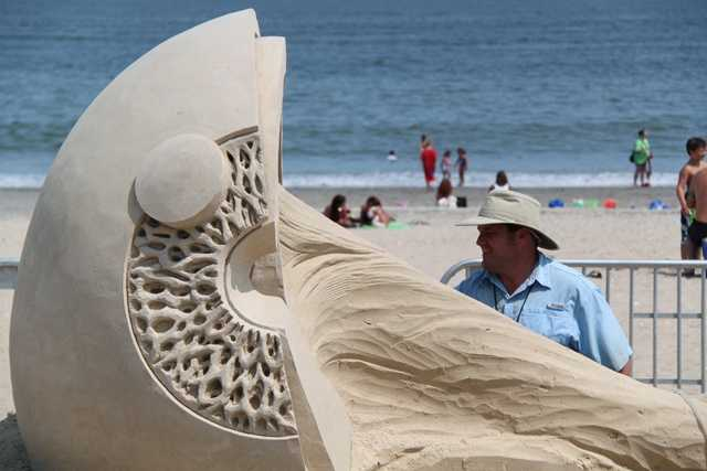 Rusty Croft from Carmel, California, was named the winner of the 2014 National Sand Sculpting Festival on Revere Beach.