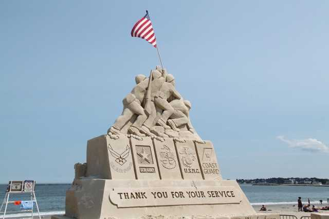 The centerpiece of the 2014 National Sand Sculpting Festival is a tribute to our armed forces.