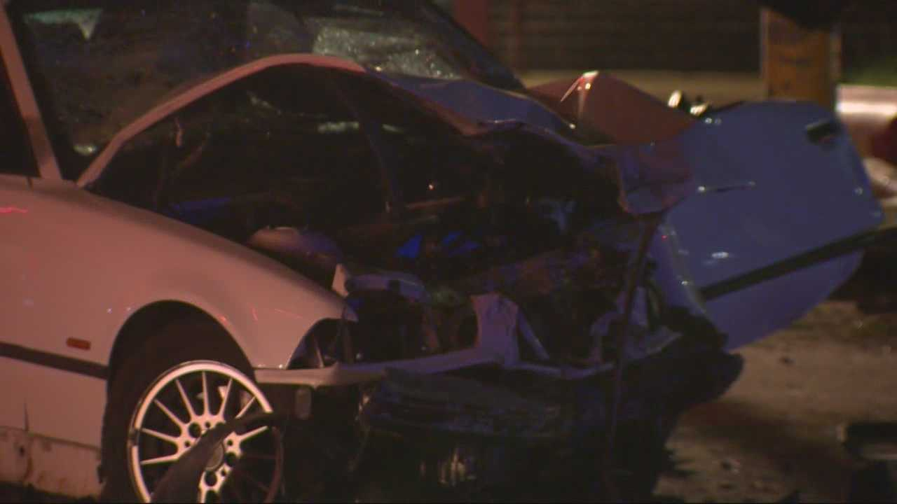 Boston police are investigating a crash in Charlestown that happened right in front of a firehouse.