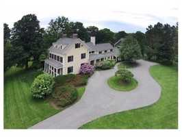 """""""Fox Hill Farm"""" is a landmark Greek Revival-style Colonial set on 5.54 bucolic acres in Westwood's premier estate area offering convenient access to Westwood center & Rt. 128."""