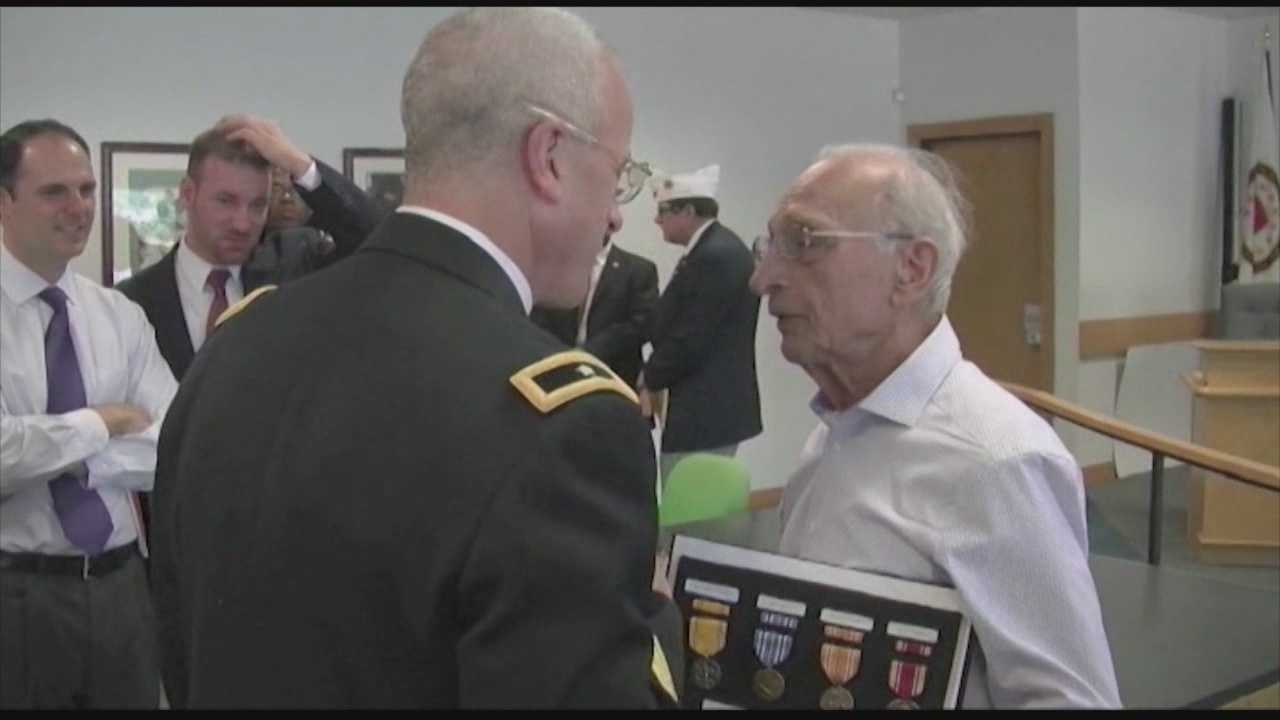 Vet, 87, finally awarded WWII medals