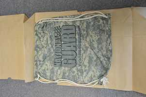 New Hampshire investigators released this photo of a drawstring backpack in hope that someone saw Abby Hernandez or a female wearing it the night of July 20, when Abby Hernandez returned home.