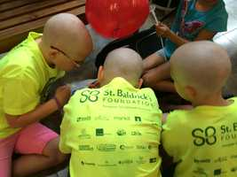 Every participating mother has ties to a child with cancer, according to the group.