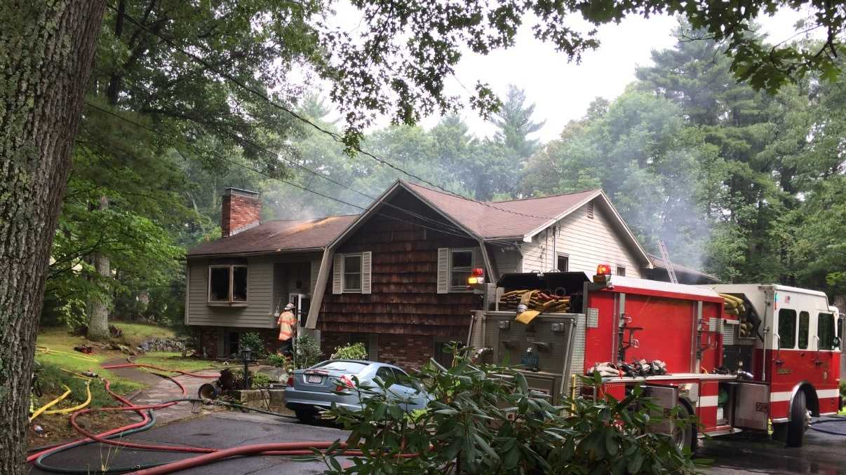 A lightning strike at a home in Stow sparked a 4-alarm fire. No one was injured.